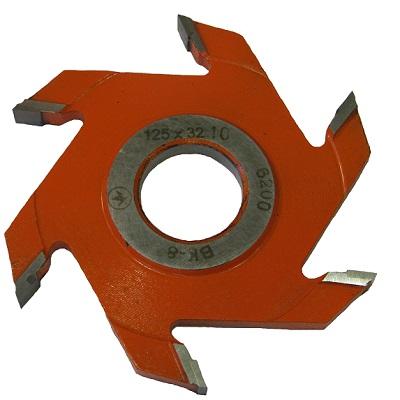 Фреза дисковая пазовая 125х32х10 z 6