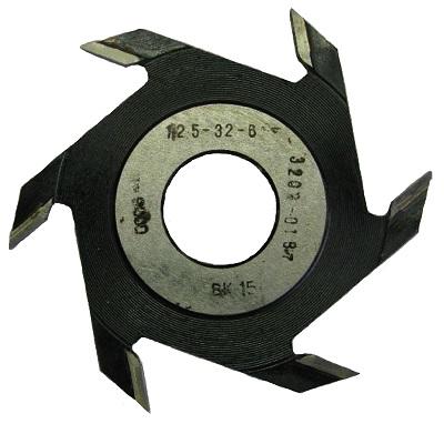 Фреза дисковая пазовая 125x32x6 z 6