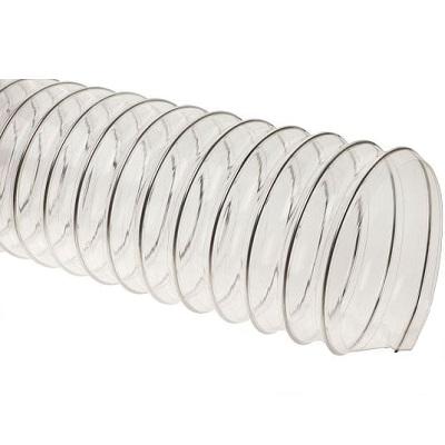 Прозрачный полиуретановый шланг, длина 10м, диаметр 100мм, стенка 0,5мм JET PU500.100.10