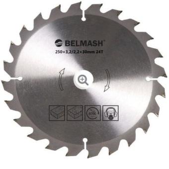 Пильный диск по дереву Белмаш (250х30мм; 24Т)