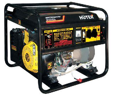 Бензиновый генератор Huter DY6500LX - электростартер