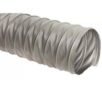 Серый универсальный шланг ПВХ, длина 5м, диаметр 100мм, стенка 0,3мм JET PVP300.100.5