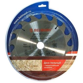Пильный диск по дереву Belmash (250х32; 16Т) RD023A
