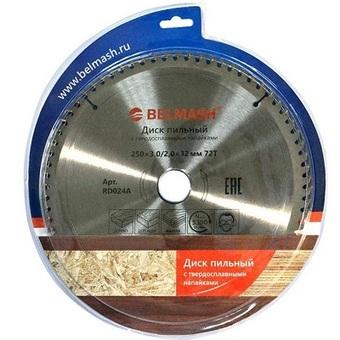 Пильный диск по дереву Belmash (250х32; 72Т) RD024A